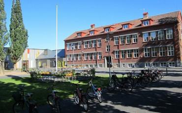 Bilden visar skolan i Levene.