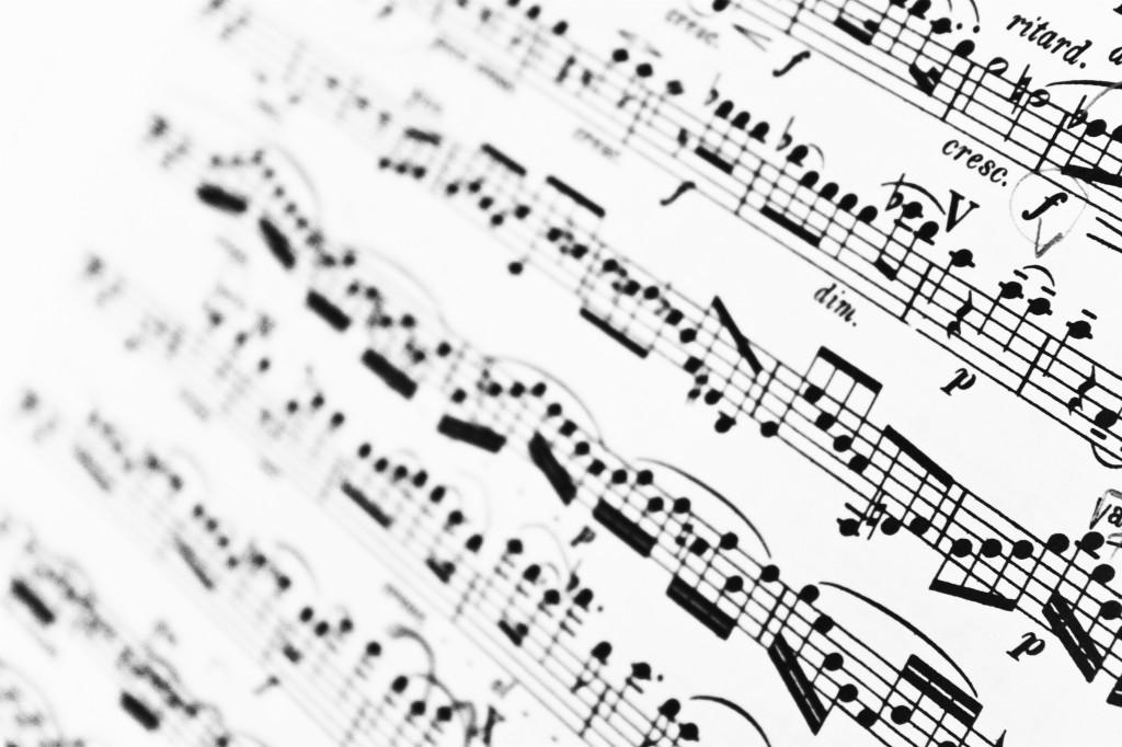 Noter Sång Musik Bildarkivet