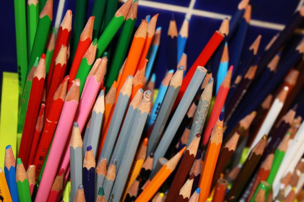 Pennor i olika färger