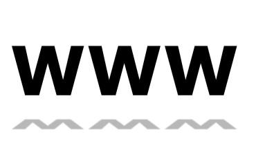 Bokstäverna www som står för World wide web