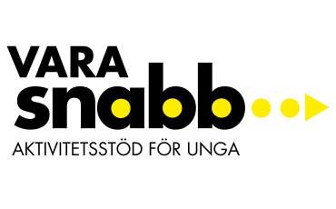 Logotype med texten Vara snabb aktivitetsstöd för unga