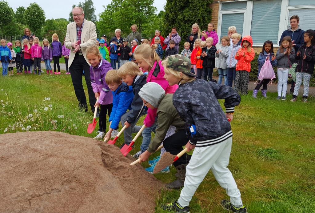 Torsgårdsskolan - Första spadtag