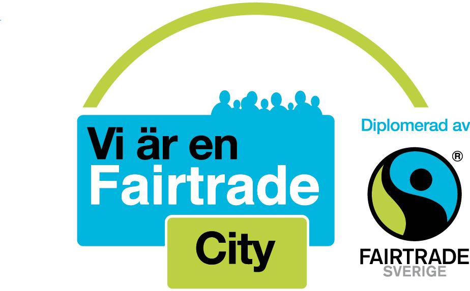 Fairtrade Citys logotyp. Bild.