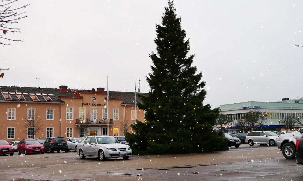 Julgran på Stora torget 2017