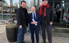 Fredrik Nelander, Morgan Johansson och Gert Andersson.