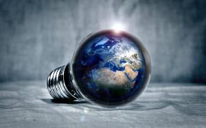 Jorden i en lampa