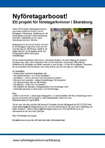 Projekt för nyföretagande kvinnor 2019