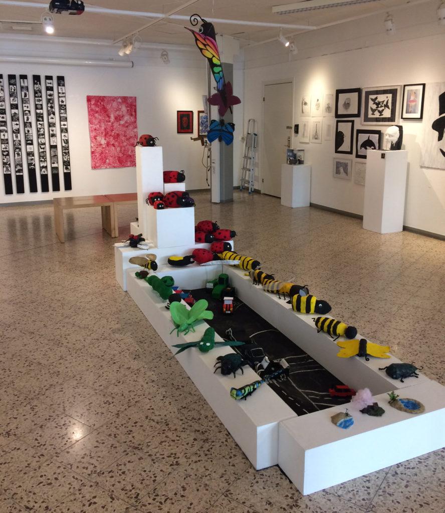 Utställning av Kulturskolans elever i utställningshallen