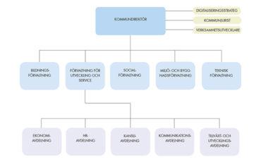 Bild över Vara kommuns organisation