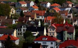 Bilden beskriver ett bostadsområde