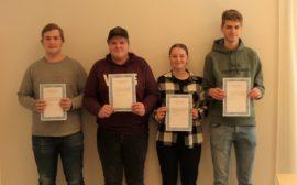 Fyra stipendiater på Lagman