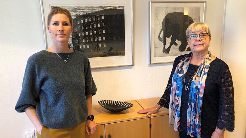 Bilden föreställer Ylva Morén och Ann-Charlott Folkesson