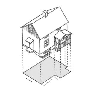 Bilden visar vad som är byggnadsarea