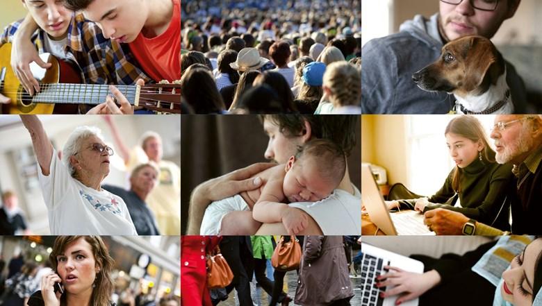Kollage på bilder kopplat till folkhälsa.