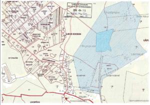 Bilden beskriver karta över vattenskyddsområde i Fåglavik