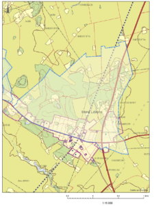 Bilden beskriver en kartbild över vattenskyddsområde i Smedtofta