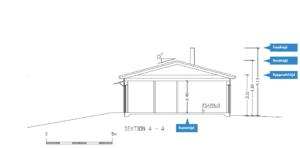 Bilden beskriver en sektionsritning