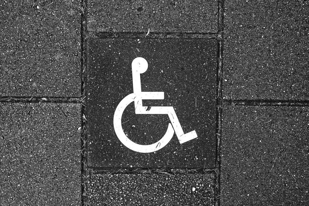 Bildens visar en handikappsmarkering.